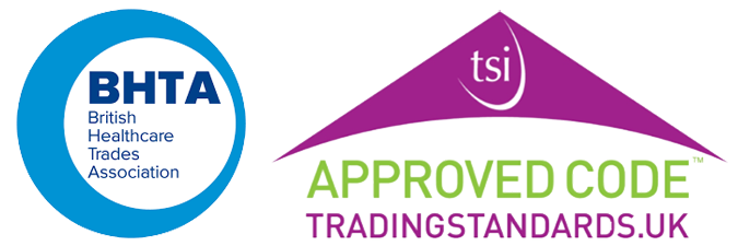 British Healthcare Trades Association & Trading Standards Institute logos