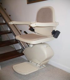 A recycled stairlift