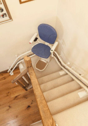 Second hand curved stairlift